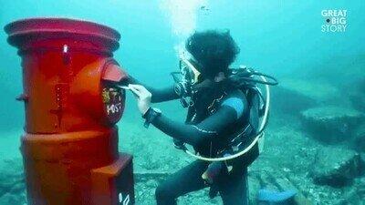 Enlace a Un pueblo pesquero japonés tiene un buzón de correos bajo el mar