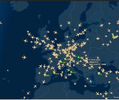 Enlace a Comparando vuelos sobre Europa y Estados Unidos
