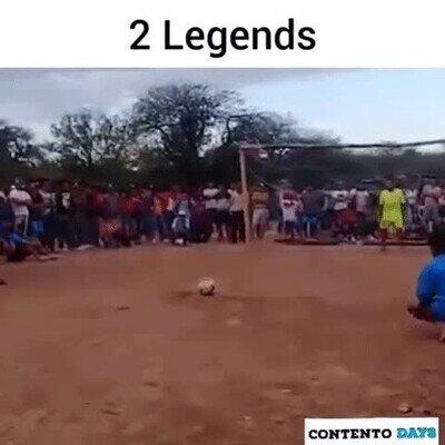 Enlace a 2 leyendas del fútbol