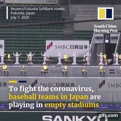 Enlace a El público de los estadios ha sido reemplazado por robots animadores