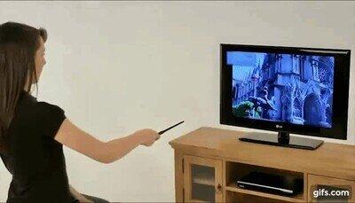 Enlace a Esta varita de Harry Potter también es un mando de la tele
