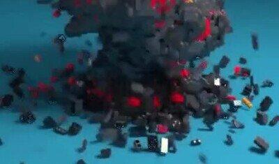Enlace a Una explosión con figuras de LEGO