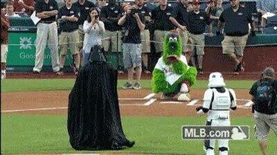 Enlace a Darth Vader sería un excelente jugador de Baseball