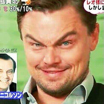 Enlace a Leo imitando a la perfección la cara de Jack Nicholson