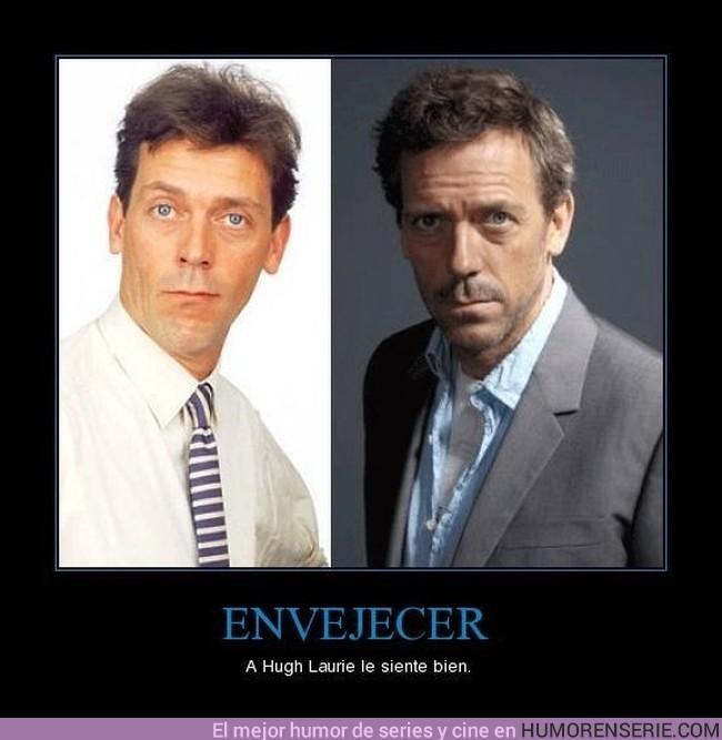 6 - ENVEJECER - A Hugh Laurie le siente bien.