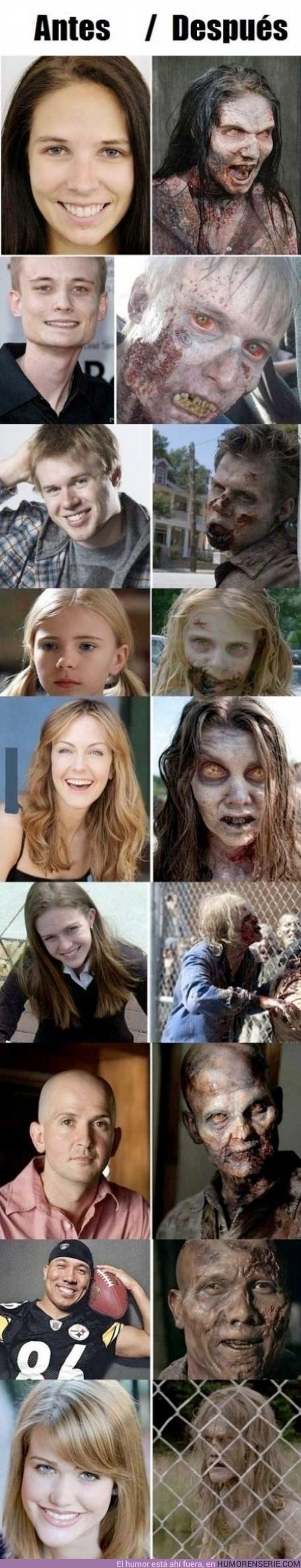132 - THE WALKING DEAD - El antes y el después de algunos zombies
