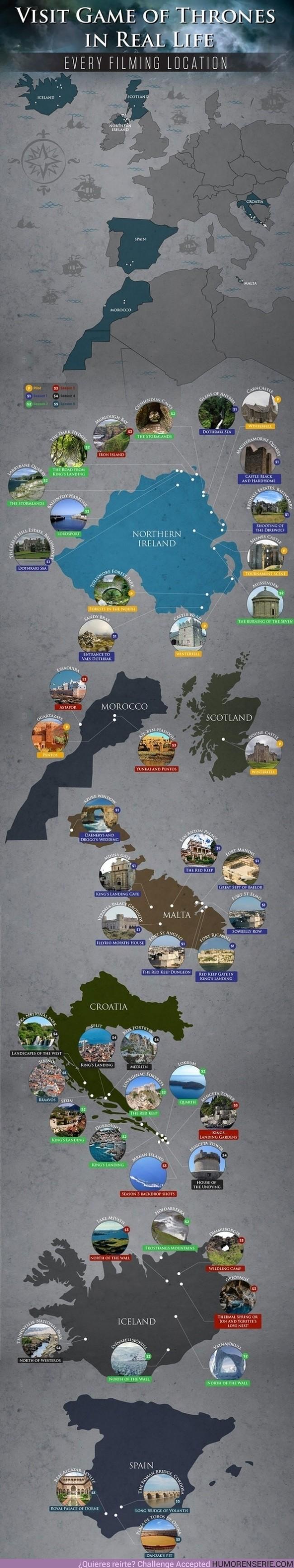 855 - Te ayudamos a elegir dónde irte de vacaciones ;) - Aquí están todas las locaciones donde se ha graba