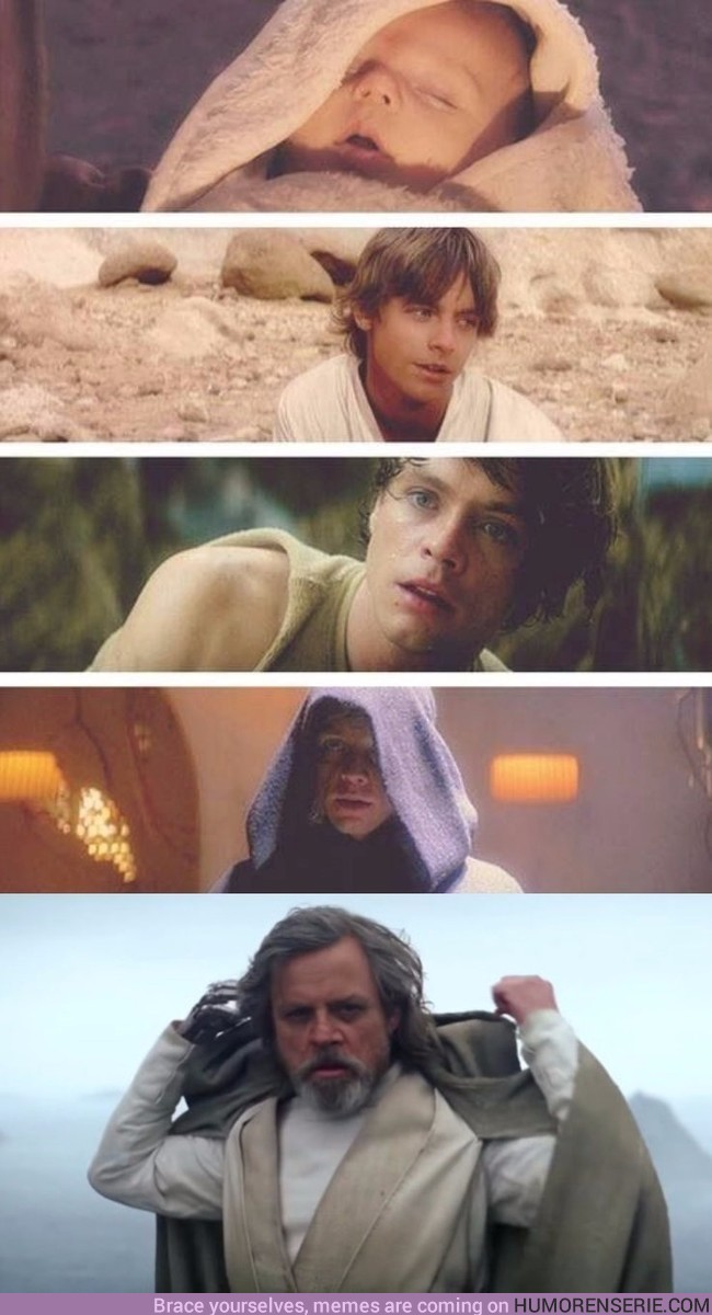 3972 - Evolución de Luke Skywalker en Star Wars
