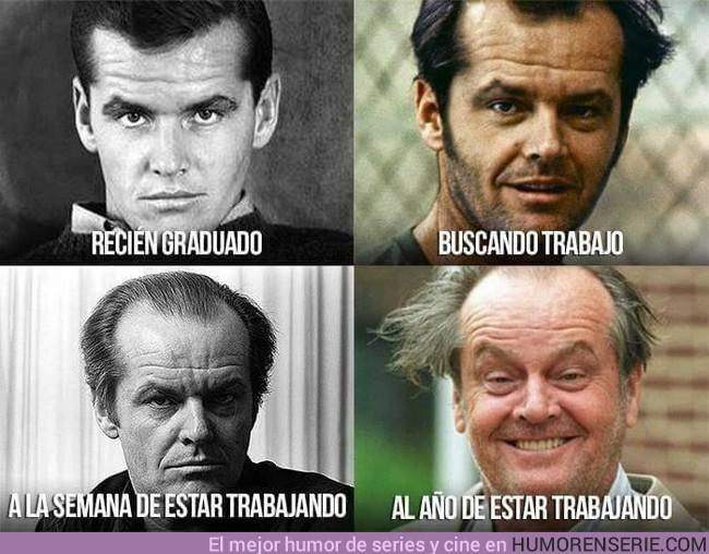 6936 - Jack Nicholson recreando las etapas de la vida