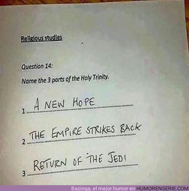 8030 - El profesor de religión no estará muy contento con la respuesta