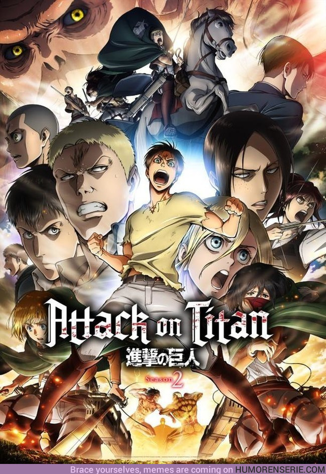10651 - Poster de la segunda temporada de Ataque a los Titanes