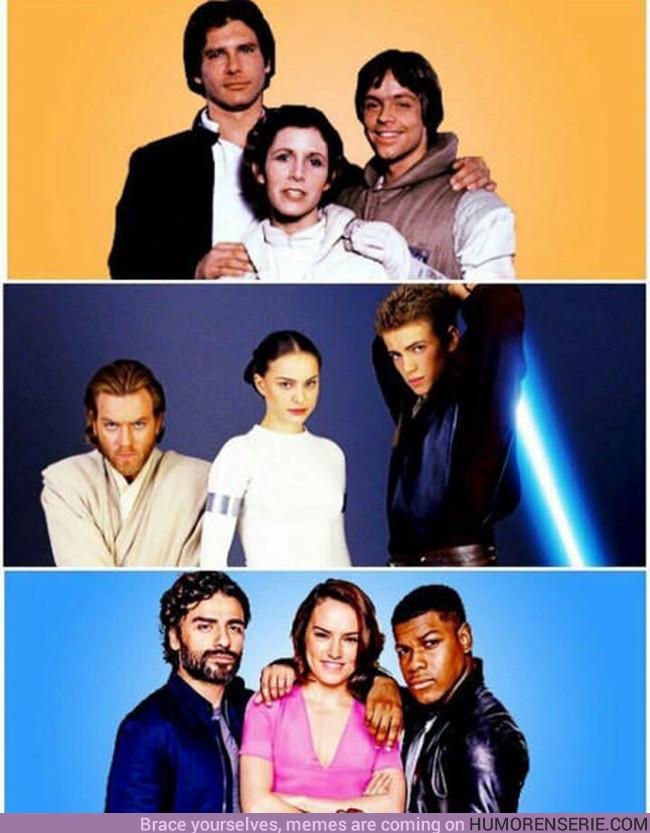 13032 - Los tríos en Star Wars antes y ahora