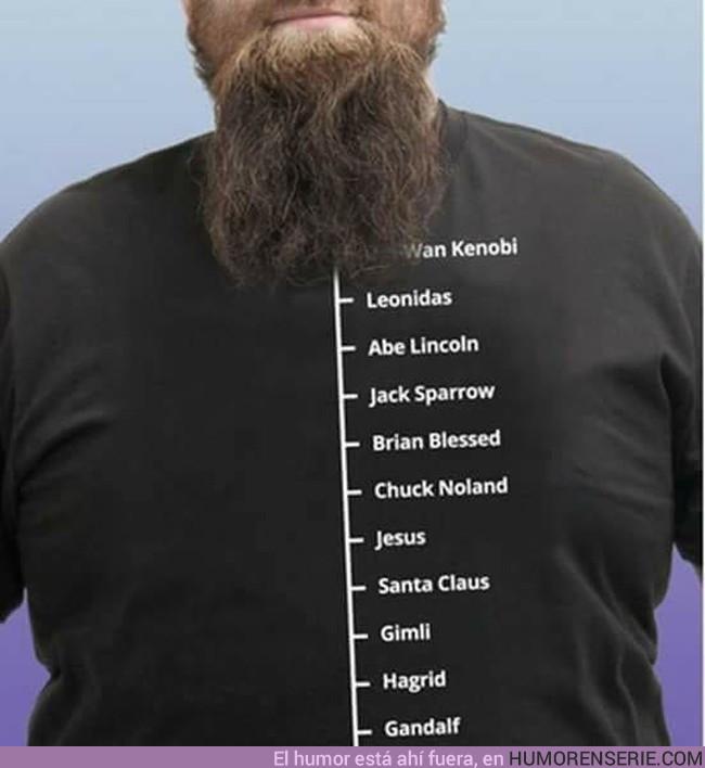 15386 - Esta camiseta es el mejor medidor de barbas
