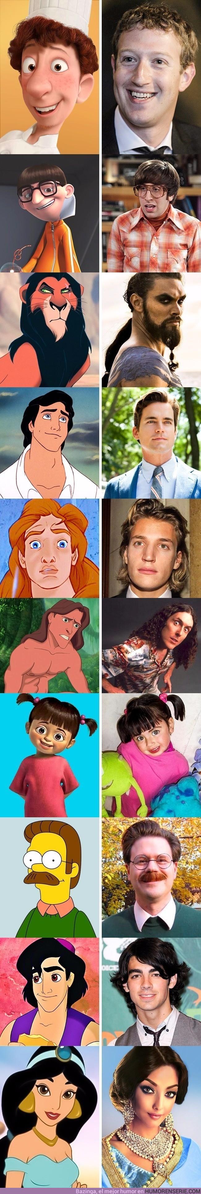 16501 - 10 Personas que se parecen como dos gotas de agua a personajes de películas animadas