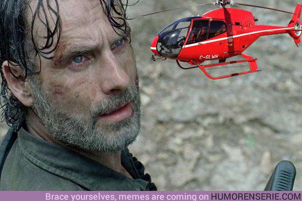 20055 - TWD 8x05: ¿Qué explicación tiene el helicóptero que ve Rick?