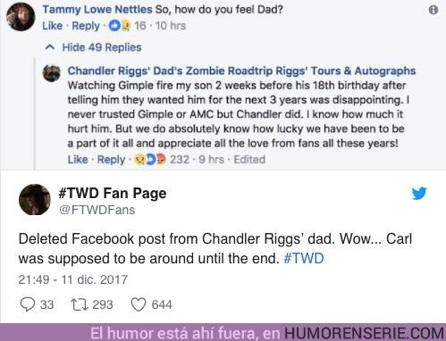 20680 - El padre de Chandler Riggs raja duramente contra los creadores de TWD