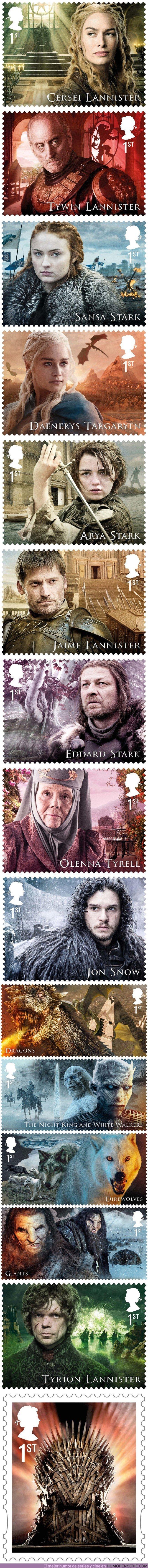 21372 - GALERÍA: Así de increíble es la colección de 15 sellos oficiales de Juego de Tronos