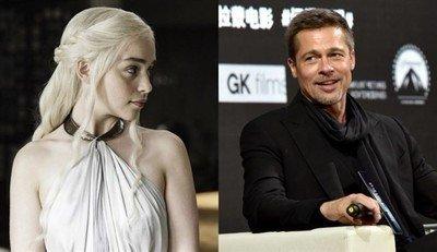 21533 - La escandalosa cantidad de dinero que Brad Pitt ofreció por ver un capítulo con Emilia Clarke