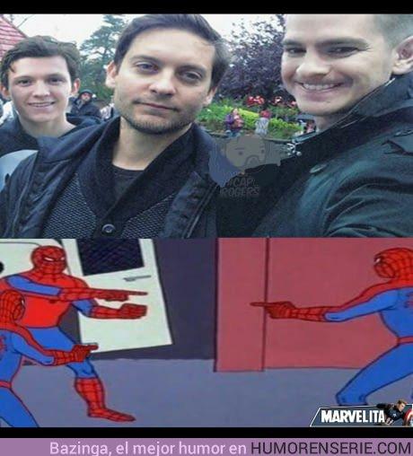 21563 - 3 generaciones  de Spiderman en una sola foto