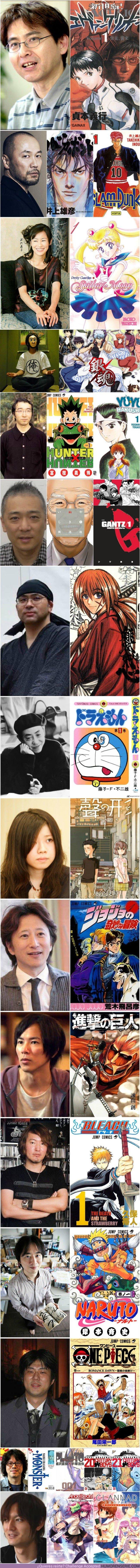 21738 - Esta es la cara de los 16 creadores de manga más famosos de la historia