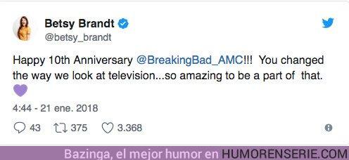 22119 - Breaking Bad: Así han celebrado los actores el décimo aniversario de la serie