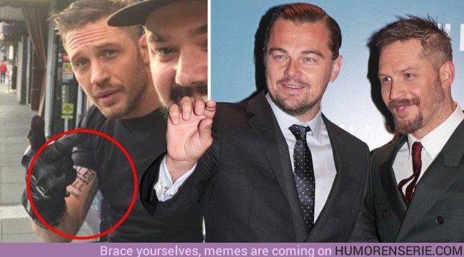 22302 - Tom Hardy cumple su palabra y se tatúa después de perder una apuesta con Leo DiCaprio