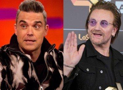 22347 - Robbie Williams habla de aquella vez en la que tomó setas alucinógenas en casa de Bono de U2