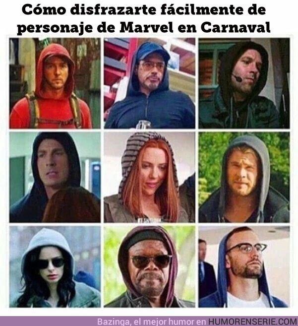 22397 - Cómo disfrazarte de personaje de Marvel en cómodos pasos