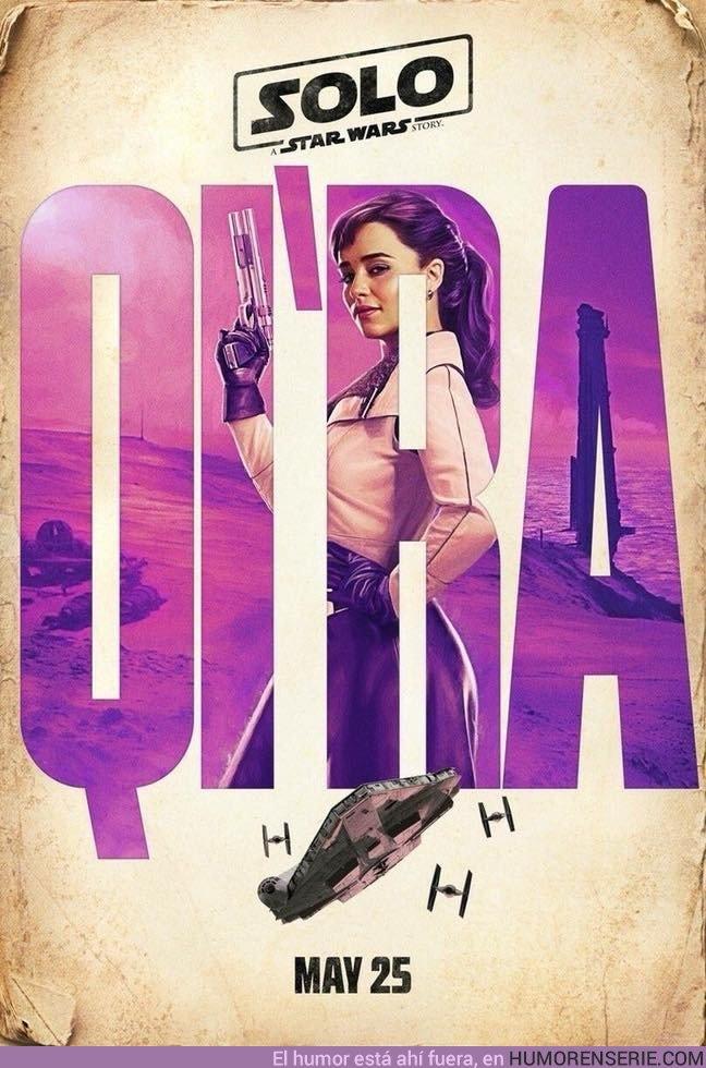 22429 - Emilia Clarke como Qi'Ra en #HanSolomovie.