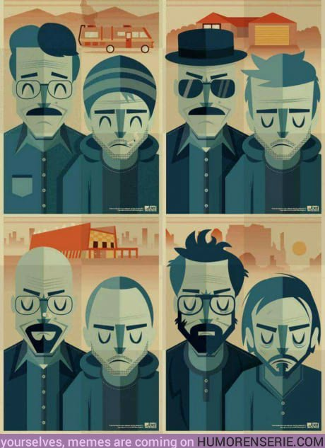 22937 - La evolución de los protas de Breaking Bad en 4 viñetas