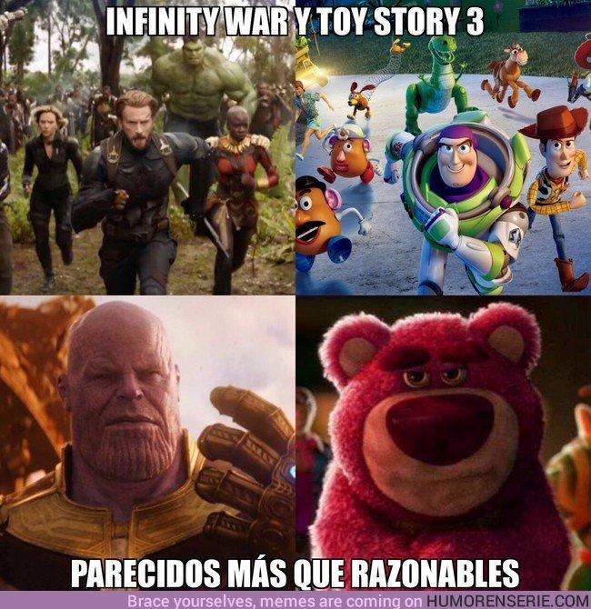 23083 - Infinity War y Toy Story 3, parecidos más que razonables
