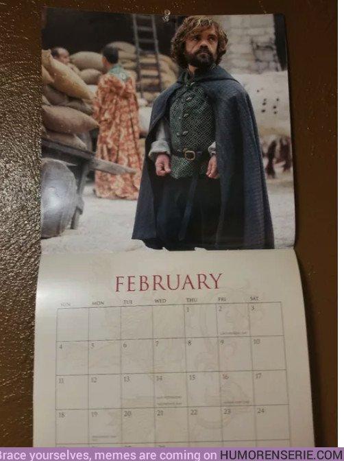 23115 - Hay que tener mala leche para poner a Tyrion en el mes más corto