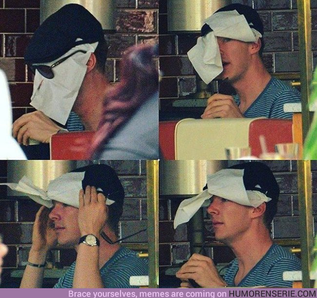 23441 - Los trucos de Benedict Cumberbatch para pasar desapercibido