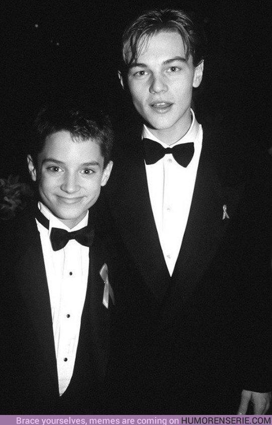 29323 - Elijah Wood y Leonardo DiCaprio yendo a los Oscar hace 24 años