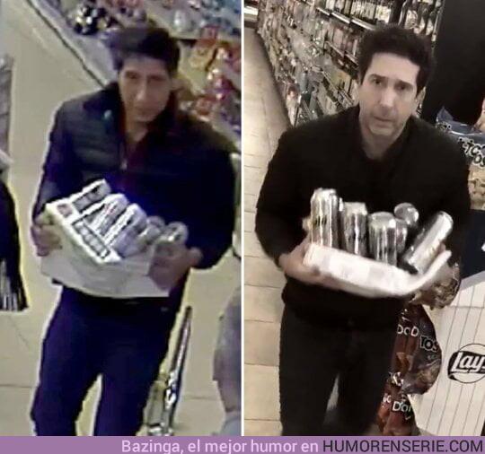 34037 - Sale a la luz la foto de la ficha del ladrón que se parecía a Ross y resulta que no se le parece EN NADA