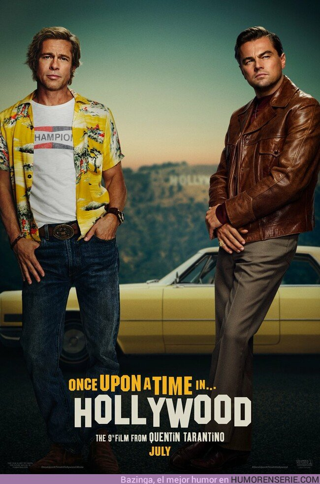 36117 - Primer póster de Once Upon a Time in Hollywood, lo nuevo de Tarantino con Brad Pitt y DiCaprio
