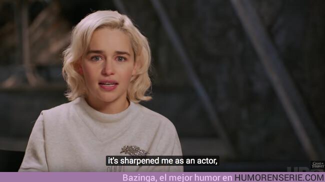 36963 - Vídeo: Emilia Clarke se emociona recordando la evolución de Daenerys en Juego de Tronos