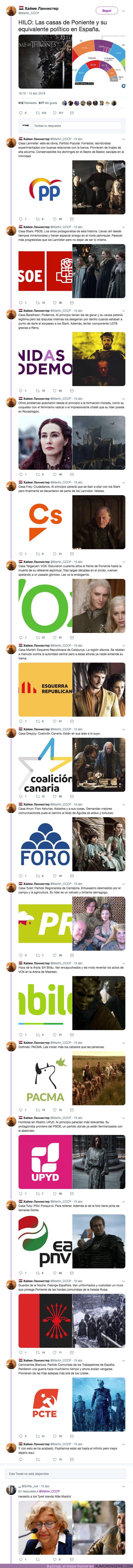 37313 - Las casas de Poniente y su equivalente político en España.