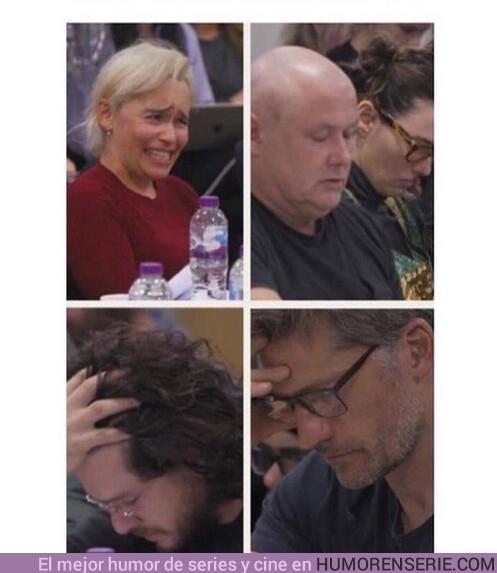 38638 - La reacción de los actores al leer el guión de la última temporada