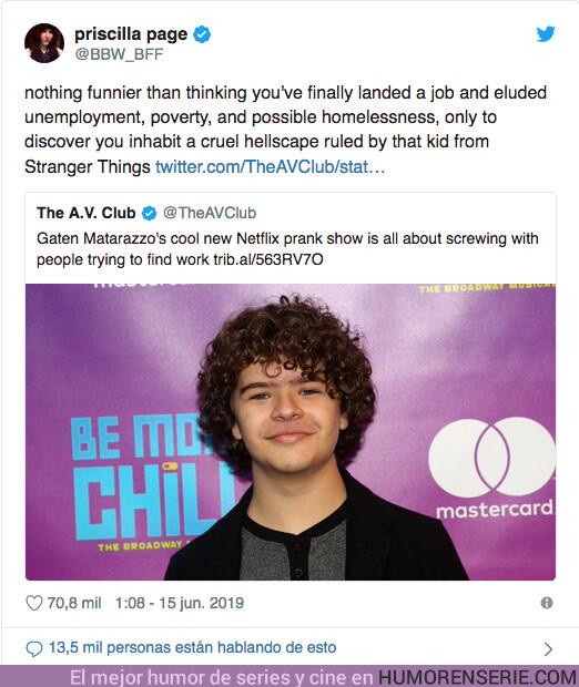 39250 - Uno de los niños de Stranger Things tiene un nuevo programa pero la gente se indigna y dice que es demasiado cruel