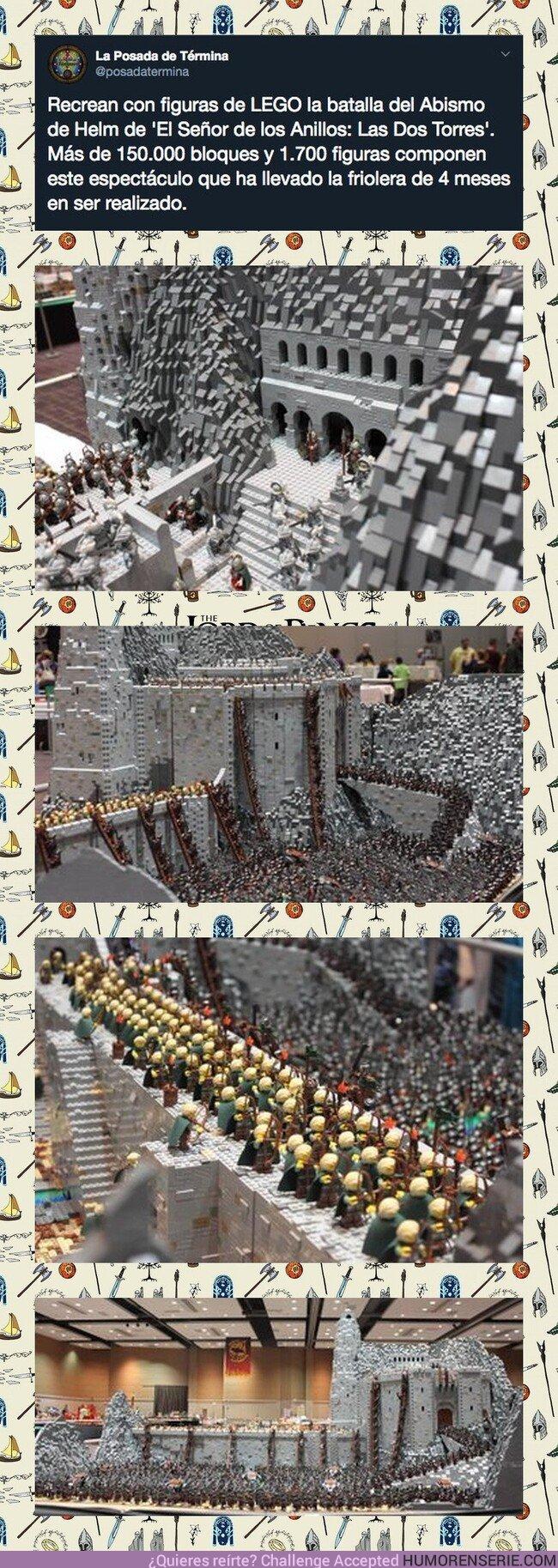 43918 - Recrean con figuras LEGO la Batalla del Abismo de Helm y es algo ALUCINANTE