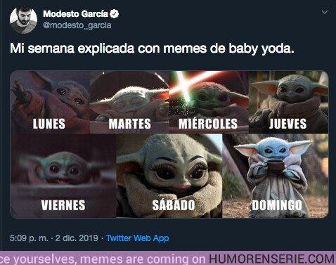 44549 - La semana explicada con memes de Baby Yoda