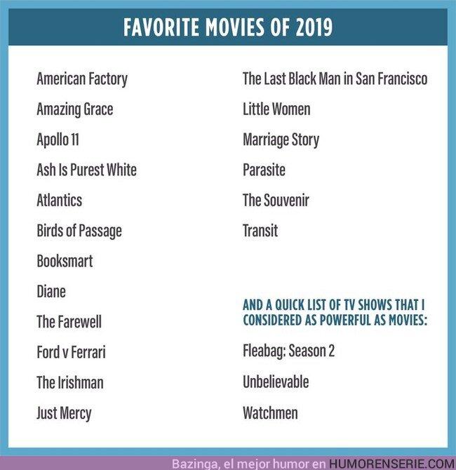 45383 - Estas son las mejores películas y series que se han estrenado en 2019 según Barack Obama