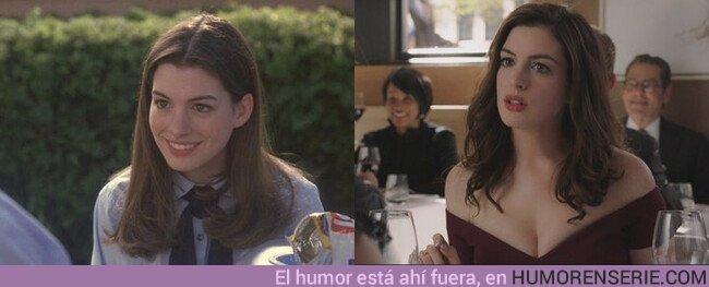 45398 - Anne Hathaway con 19 y 36 años