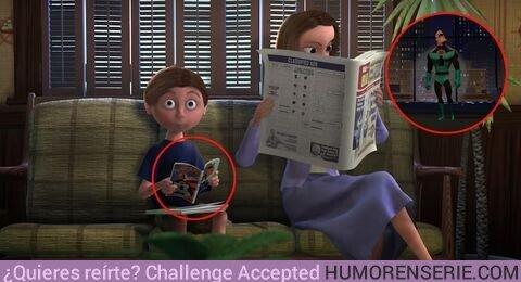 47623 - En la sala de espera del dentista de Nemo aparece el padre de los increíbles en la portada del cómic que lee el niño.