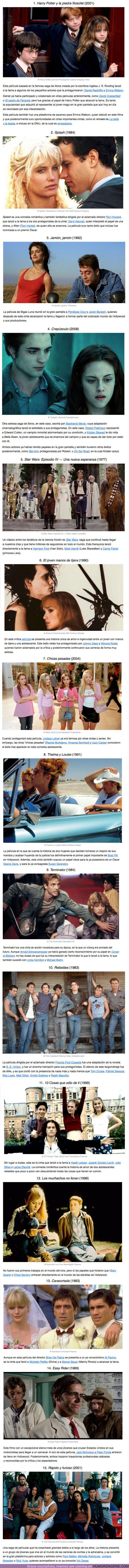 55714 - SUCCESS OR DIE: 15 Películas que llevaron a sus protagonistas del anonimato a la fama
