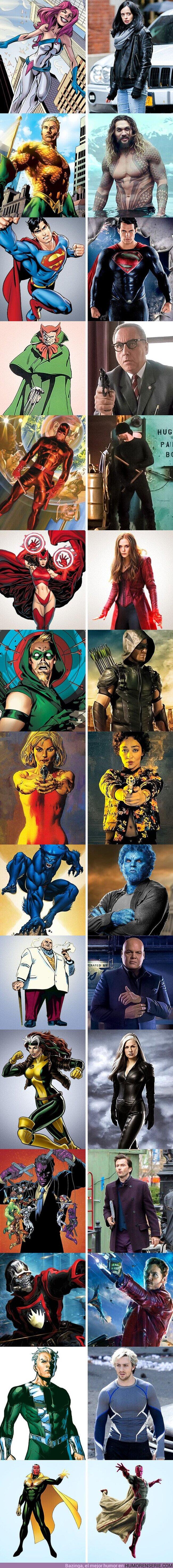57417 - GALERÍA: Cómo deberían lucir los héroes icónicos de DC y Marvel según los cómics