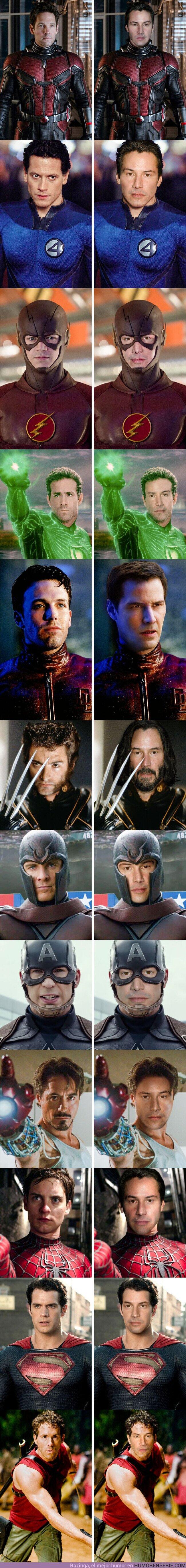 59656 - GALERÍA: Imaginamos cómo lucirían 12 superhéroes si fueran interpretados por Keanu Reeves y este es el resultado