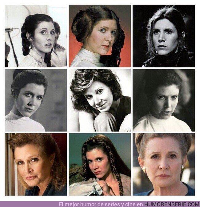 59850 - 21 de Octubre. Tal día como hoy del año 1956, en California, nace Carrie Frances Fisher. Hoy hubiera cumplido 64 años