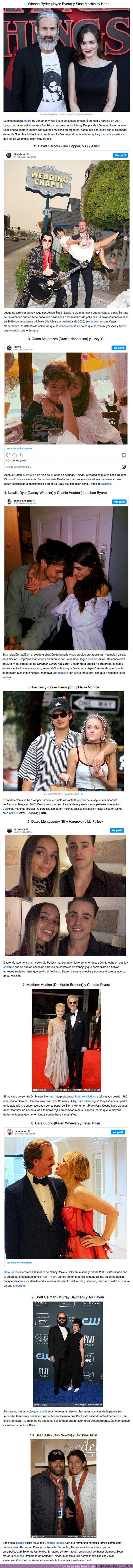 """60082 - GALERÍA: 10 Actores de """"Stranger Things"""" junto a sus parejas de la vida real (una de ellas se enamoró en el set)"""